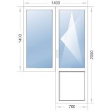 Оконный блок (окно с дверью)